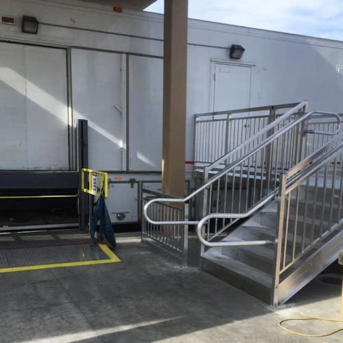 ADA Stairs for Temporary Medical Trailer